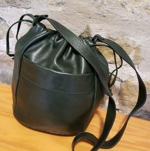 Bottega Veneta Bags - Bottega Veneta hunter green leather crossbody